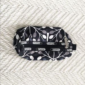 LeSportsac | Black and White Cosmetic Bag